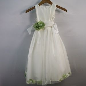 US ANGELS CLASSIC PETAL DRESS SILK AND TULLE IVORY